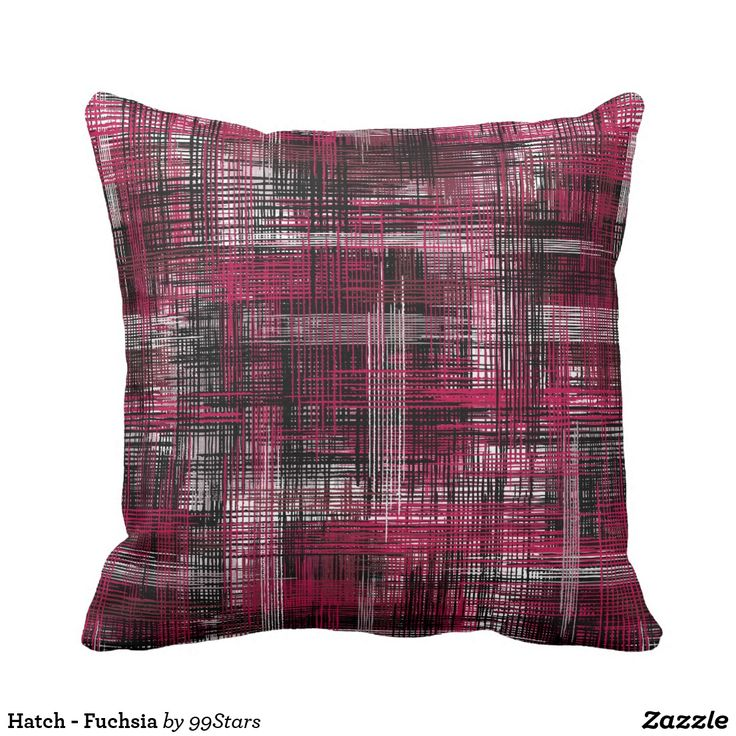 Hatch - Fuchsia Throw Pillow