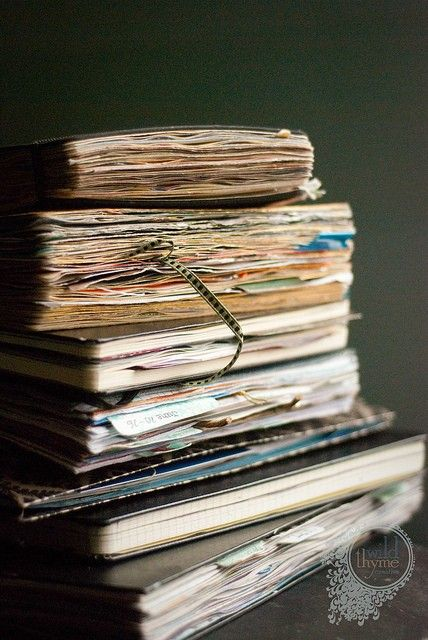 I love the crinkly feeling of pages and pages of old, memory-filled books!