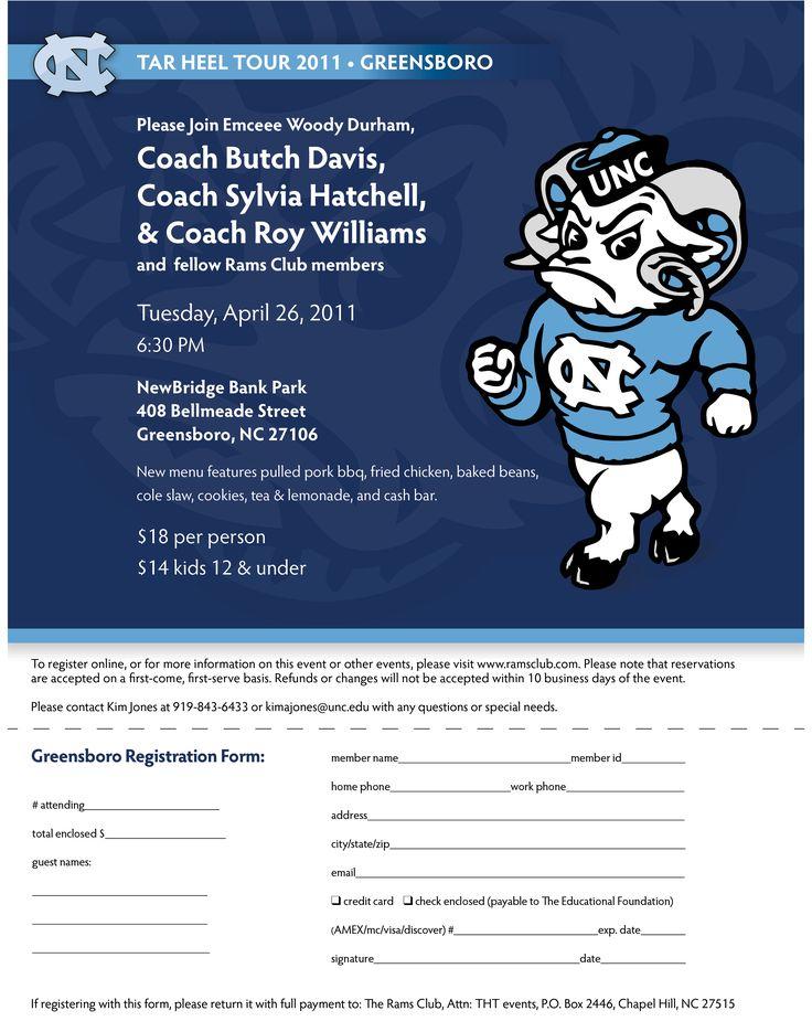 Check out this Postcard design. #graphic #design #postcard #unc #carolina #football #RamsClub #tar #heel