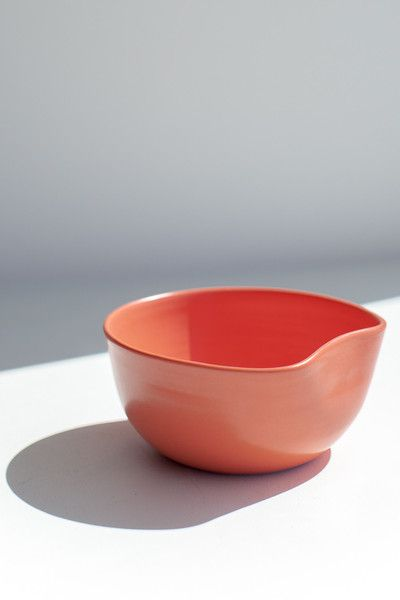 ORGANIC SMALL SALAD BOWL - CORAL