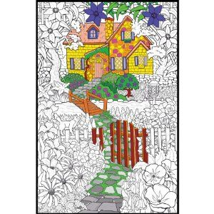 Stuff2Color Hidden Cottage Giant Line Art Coloring Poster by Stuff2Color. $4.60. LAWP-8007P. Stuff 2 Color. 821938080076. Brand New Item / Unopened Product. STUFF 2 COLOR-Line Art Wall Poster. Now you can have your very own piece of art that is customized to your own preferences and style! Each of these posters features a black-and-white image that can be colored using any marker or pencil. This package contains one 22x 33-1/2 inch poster. Available in a wide variety ...