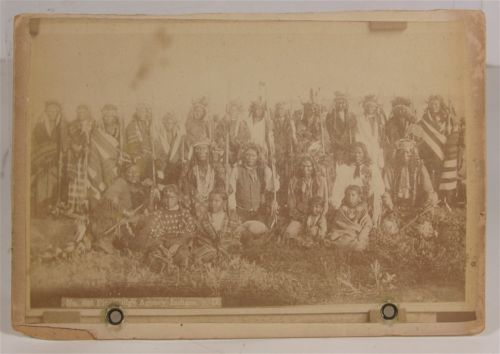 1891 Wounded Knee Indian Massacre Cabinet Card Photo of Many Sioux Warriors | eBay