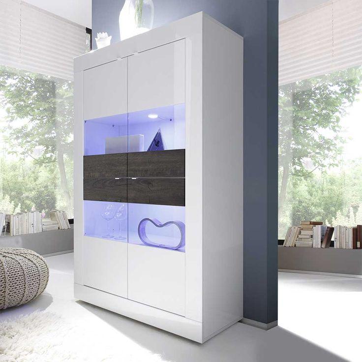 Best 25+ Vitrine Weiß Hochglanz Ideas That You Will Like On ... Wohnzimmer Vitrine Weis Hochglanz