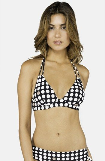 DKNY 'Traffic Dot' Underwire Halter Bikini Top available at #Nordstrom