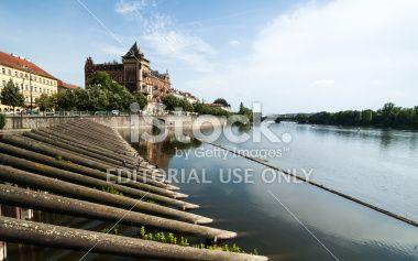Prague view over Moldava Royalty Free Stock Photo