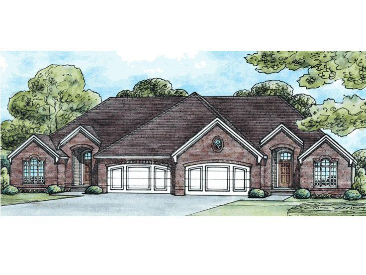 30 best images about duplex plan on pinterest house for Multi family house plan