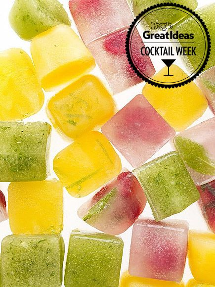 Flavored Ice Cube Recipes, How to Make Flavored Ice - Don't dilute your drink, infuse it with greater flavor!