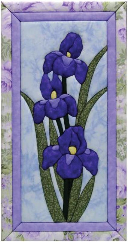 iris quilt magic (kit) No sew kit