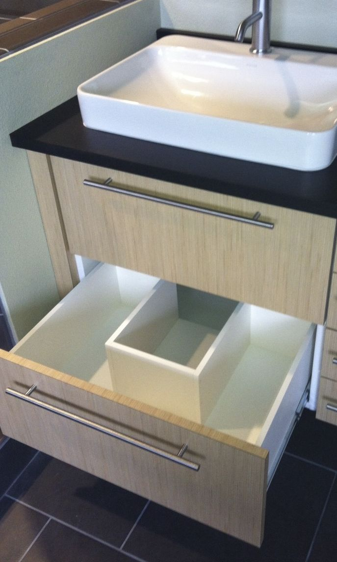 Notched Vanity Drawer To Accommodate P Trap Bath