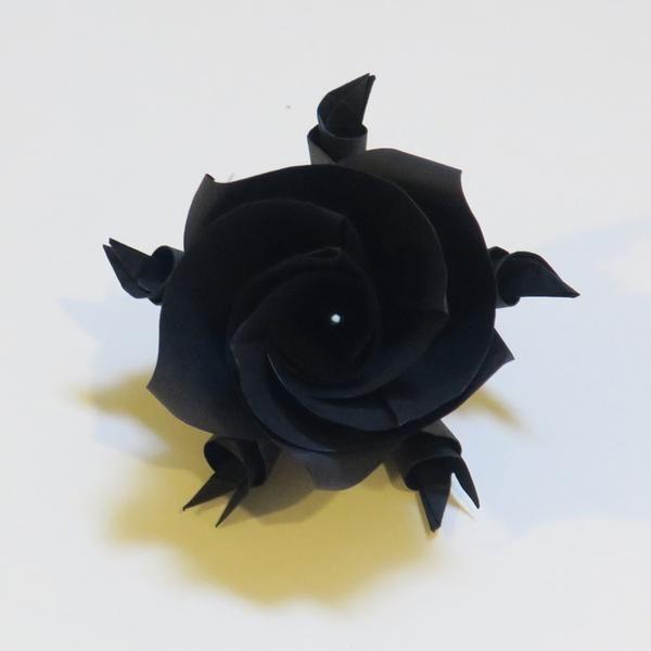 Black Versailles Rose #origami #rose #versailles