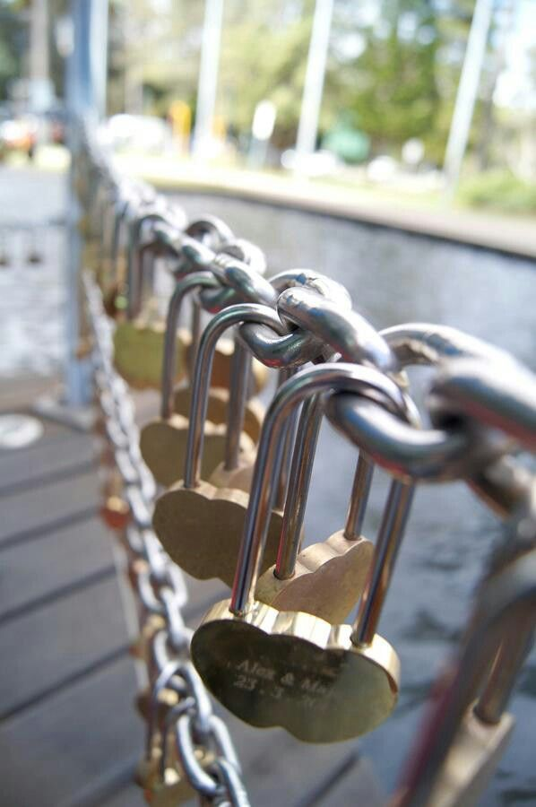 Love locks at the Bell Tower, Perth.