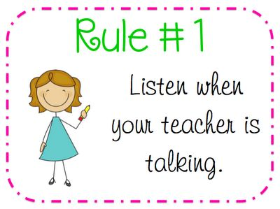 ADORABLE behavior rules to print!  I just need Rule #1.  This seems to be a problem for me this year!