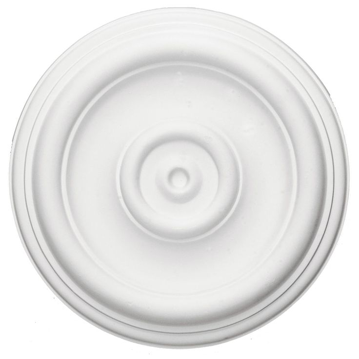 "Ekena Millwork CM12TR 12""OD x 1""P Traditional Ceiling Medallion (Fits Canopies up to 2 3/4"") CM152642 - ArchitecturalDepot.com"