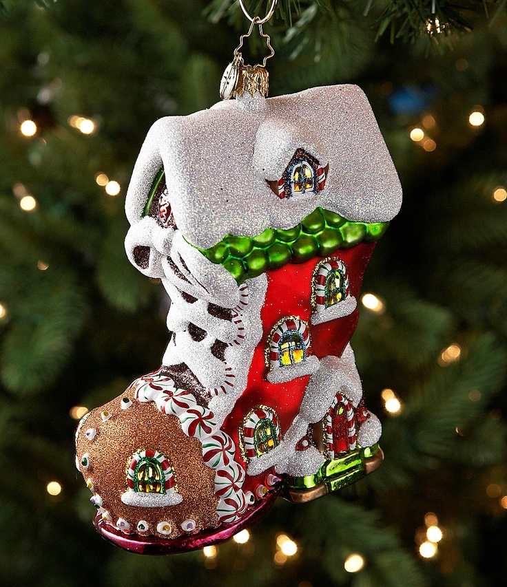 Christopher Radko Sweet Tooth Boot Ornament