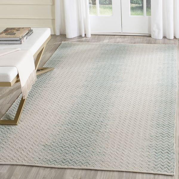 safavieh handwoven cotton kilim light green ivory cotton rug 8u0027 x 10u0027 by safavieh