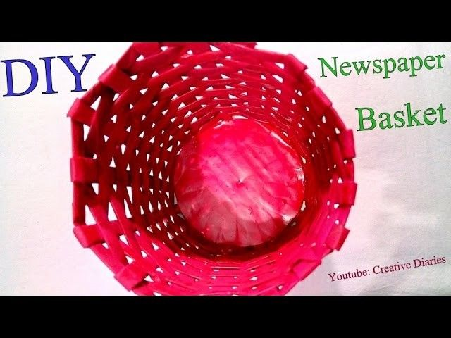 How To Make A Newspaper Basket With Top : The best ideas about newspaper basket on