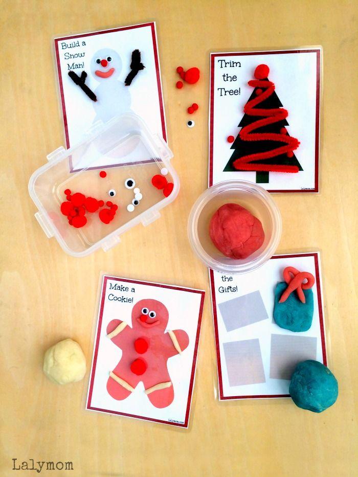 Free Printable Christmas Themed Playdough and Activity