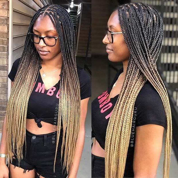 43 Pretty Small Box Braids Hairstyles To Try Page 2 Of 4 Stayglam Small Box Braids Hairstyles Hair Styles Box Braids Hairstyles For Black Women