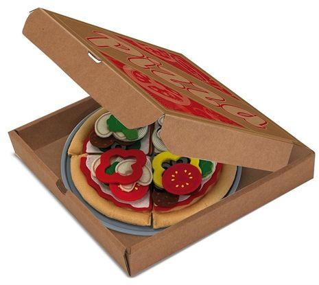 Melissa & Doug, Felt Food, Pizza Set toy