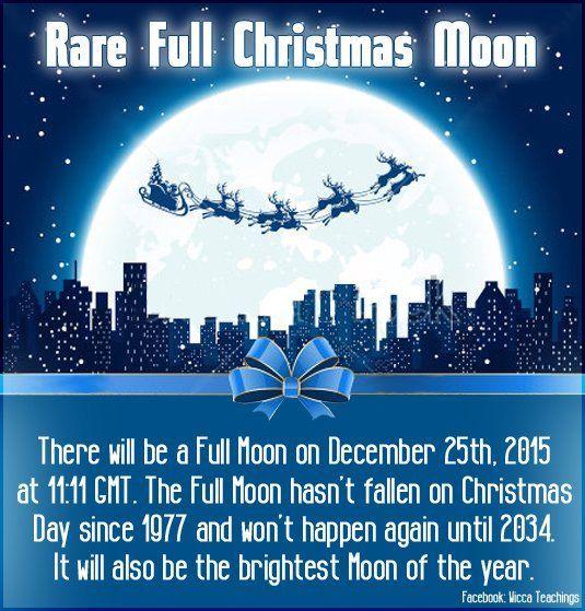 Rare Full Christmas Moon