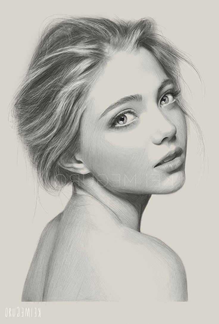 How To Draw Realistic Girl Pictures Drawing Realistic Woman Drawings Art Gallery Jpg 736 1090 Girl Face Drawing Realistic Face Drawing Face Side View Drawing