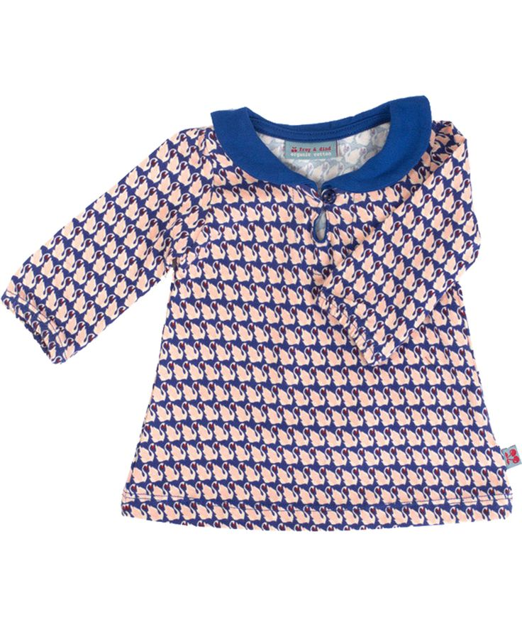 Froy & Dind super cute baby dress with swan print. froy-en-dind.en.emilea.be