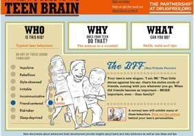 Is My Teen's Behavior Normal?  A Parent's Guide to the Teen Brain explores the science behind teenage brain development and how it shapes normal teenage attitude and behavior. Find video clips, role-playing tools and practical advice from experts — all designed to help you connect with your teen.