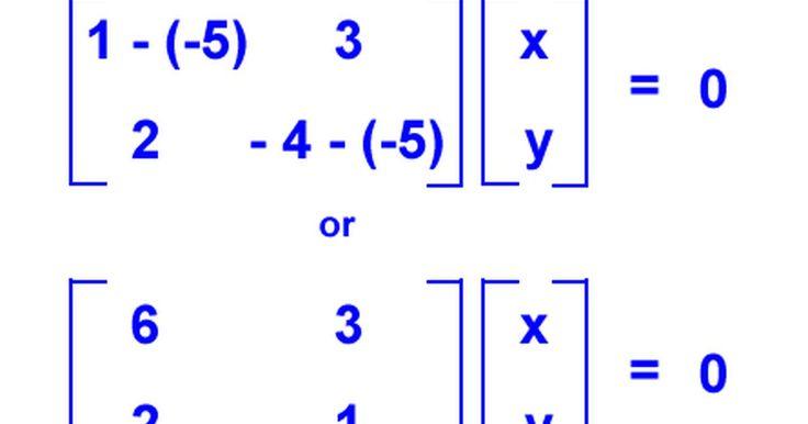 """Cómo calcular autovalores y autovectores. Un autovector es un vector distinto de cero que, cuando es multiplicado por una matriz cuadrada, el resultado es un múltiplo de sí mismo. Este múltiplo es un escalar llamado """"autovalor"""". Encontrar autovalores y autovectores es necesario para la resolución de ecuaciones diferenciales, tales como las de mecánica cuántica y las de termodinámica. ..."""