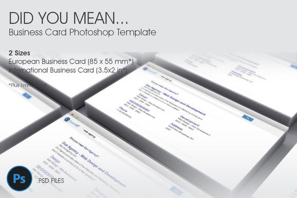 Check out Did You Mean… Business Card Template by 8Link on Creative Market