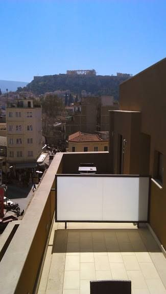 view of the Parthenon from the private terraces of the Acropolis Suites @ the O&B Athens Boutique Hotel