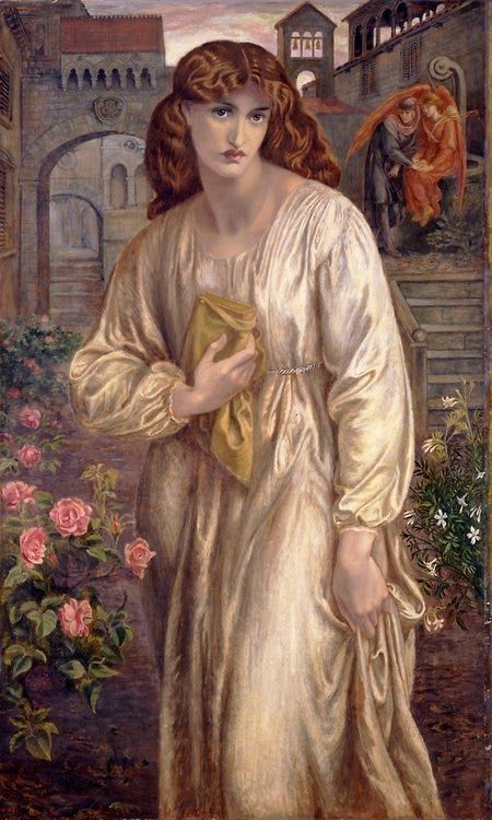 Salutation of Beatrice. 1880-1882. Dante Gabriel Rossetti