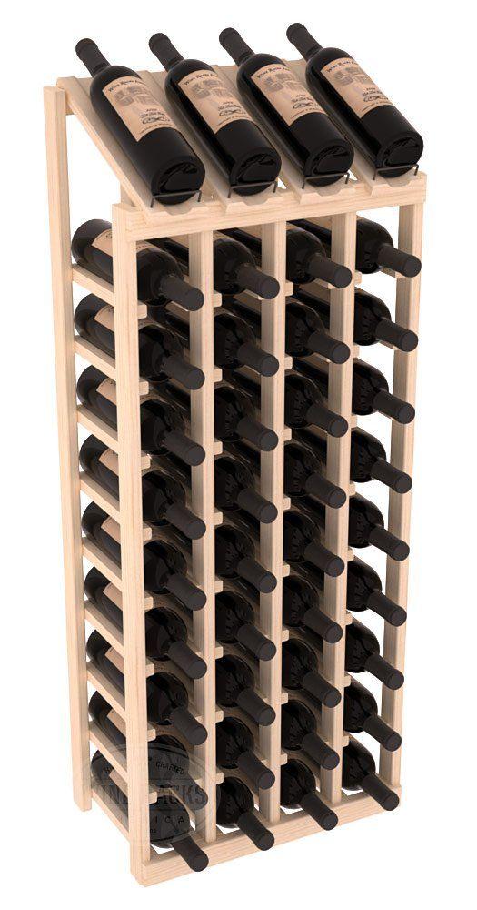 Wine Racks America Ponderosa Pine 4 Column 10 Row Display Top Kit. 13 Stains to Choose From!