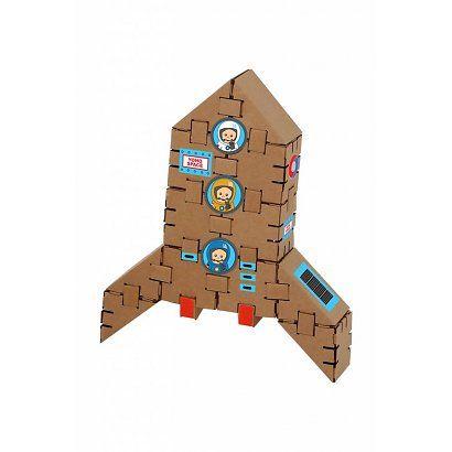 Yohocube Bouw met kartonnen bouwdoosjes een raket