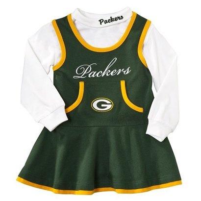 Green bay Toddler Cheer Dress $22.99.