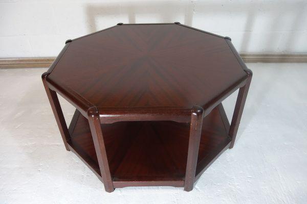 #MidCentury Danish Octagonal Coffee Side Table Shelf | Vinterior London  #retro #vintage #design #interiors #cool