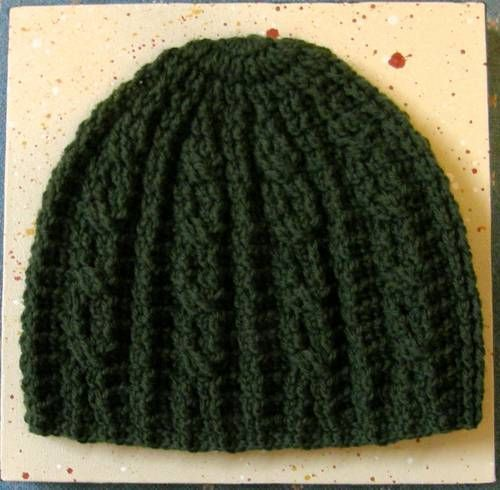 Cable look hat - CROCHET
