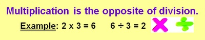 Multiplication and Division - Inverse Operations and Number Fact Families Video and Online Quiz