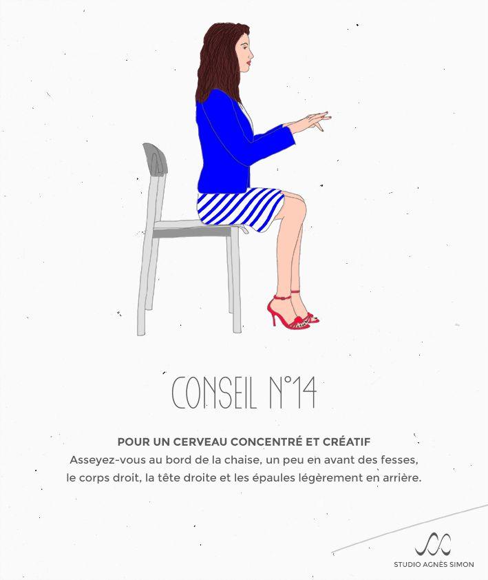 Les Conseils d'Agnès n°14 #posture #cerveau #creativite #concentration #conseil #studioagnessimon Retrouvez Agnès sur www.studioagnessimon.com