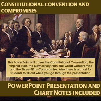 This PowerPoint will cover the Constitutional Convention, the Virginia Plan, the New Jersey Plan, the Great Compromise and the Three-Fifths Compromise. Also there is a chart for students to fill out while you go through the slideshow.