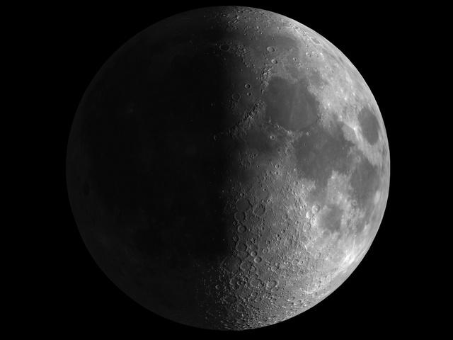 Luna en cuarto creciente