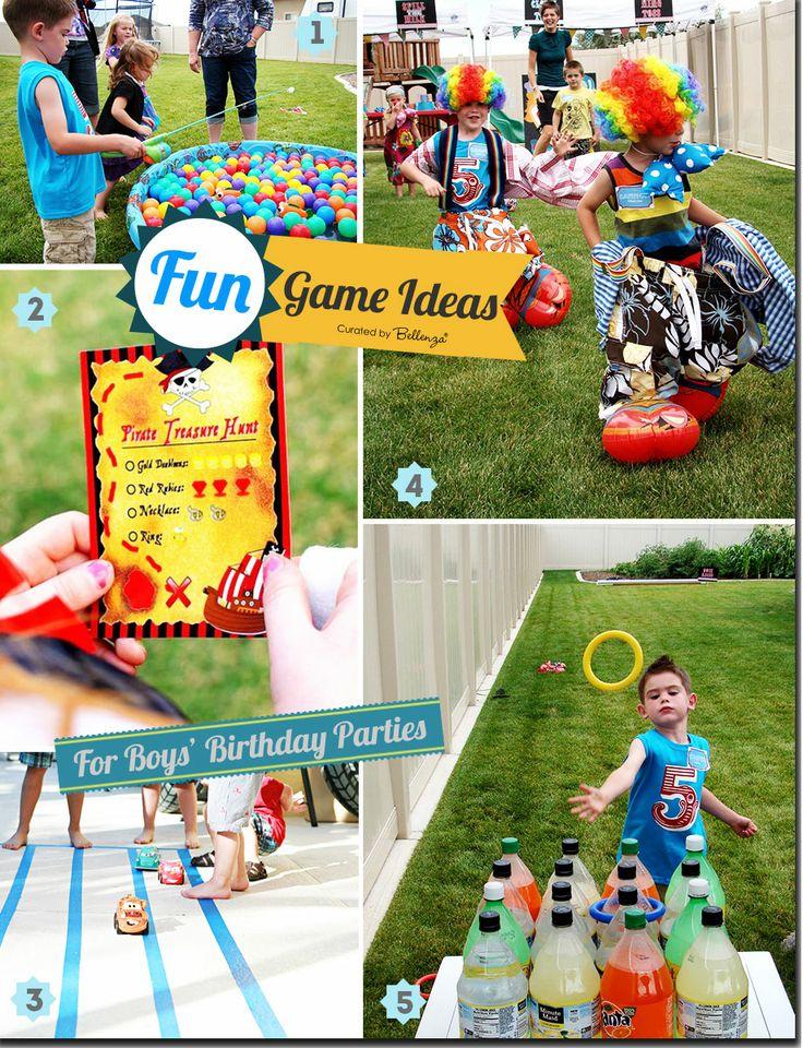 Fun Games and Activities for Boys' Birthday Parties #boysbirthdayactivities