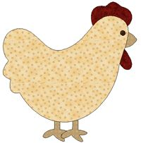 chicken quilt templates - a chicken quilt, for my Chicken :)