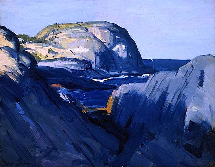 Grey and Blue // by George Bellows