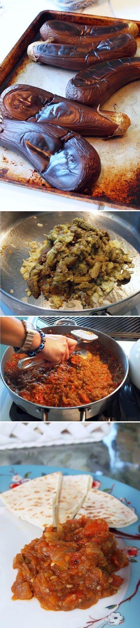 Poor Man's Eggplant Caviar | BAKLAZHANNAYA IKRA, ©cookthehelloutofit #glutenfree #vegan #starter