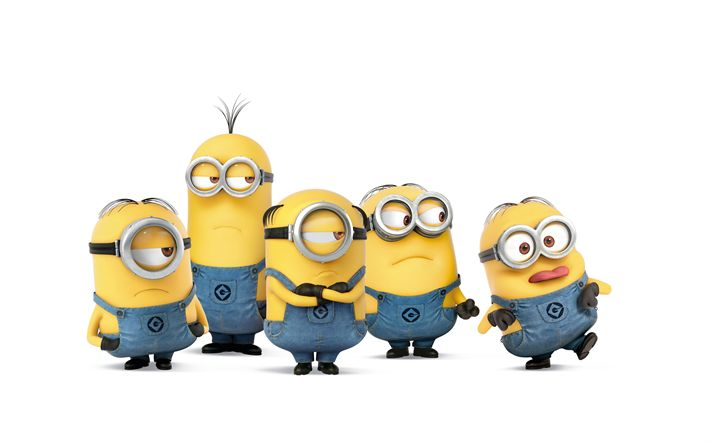 Download wallpapers Despicable Me 3, 2017, minions, 5k, Bob, Steward, Kevin