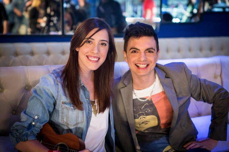 """Mariana Vega y Ale Sergi grabaron en Buenos Aires un clip de """"Medicinal"""" para un programa de tv que se verá en toda Latinoamérica. Septiembre 2013."""