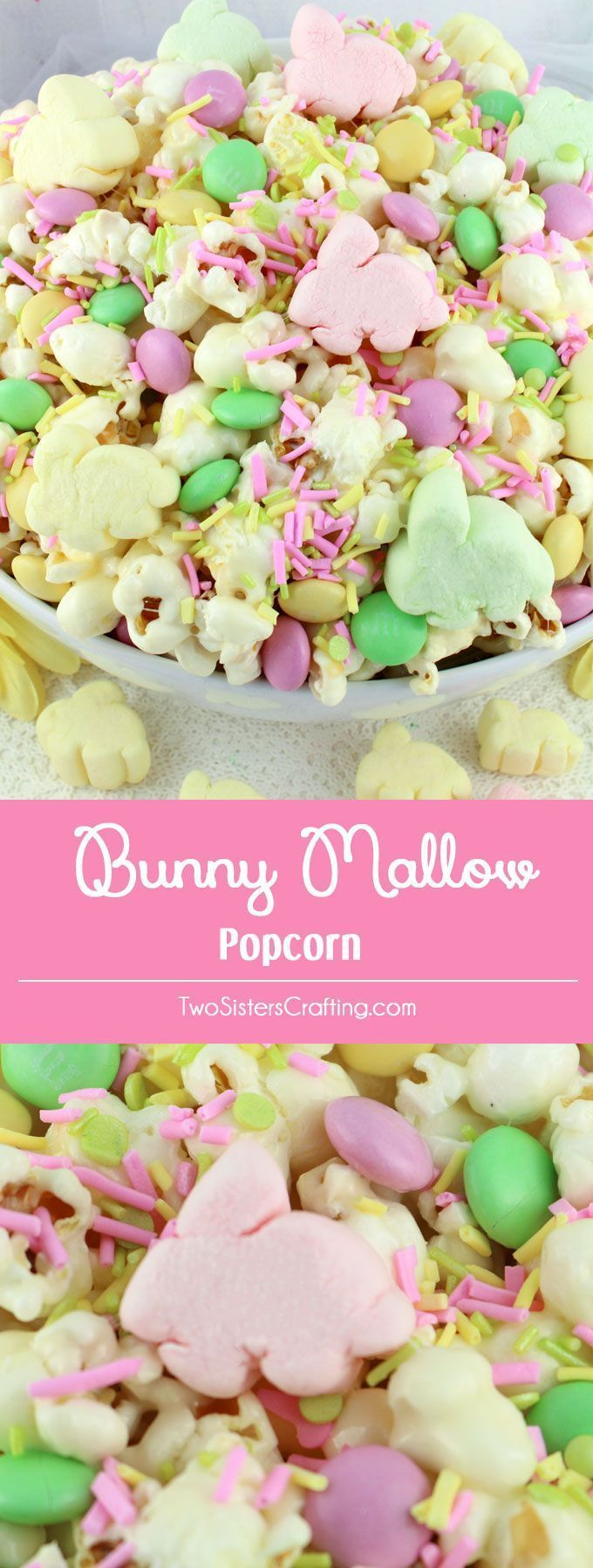 Bunny Mallow Popcorn – a fun Easter treat. Sweet, salty, crunchy and delicious a…   – Holiday Food pins