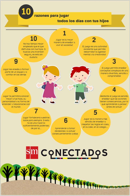 10 razones para jugar todos los días con tus hijos #infografia #infographic #education via @SMconecta2