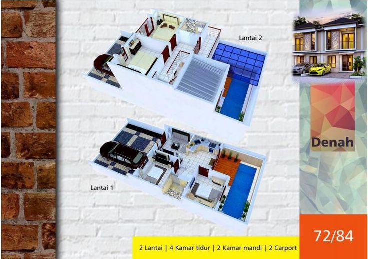 #Algira #Townhouse 1 #Kota #Bogor #Desain #3D Type 72/84 #rumahdijual #rumahmewah #property #propertysyariah #realestate bit.ly/ATH123