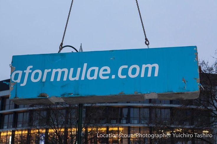 #press at #breidscheidplatz the concrete blocks of #formulae #berlineprix used for the #security of the #christmasmarket in #Berlin. #Berlin #love #liebe